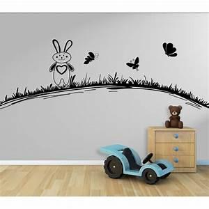 Wandtattoo Kinderzimmer Schmetterlinge : wandtattoo kinderzimmer hase hasi mit schmetterlinge auf der wiese ~ Sanjose-hotels-ca.com Haus und Dekorationen