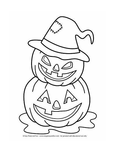 Coloring Halloween Pages Jack Easy Sheets Printables