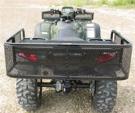 atv rack accessories 550l universal large rear drop rack for honda atvs