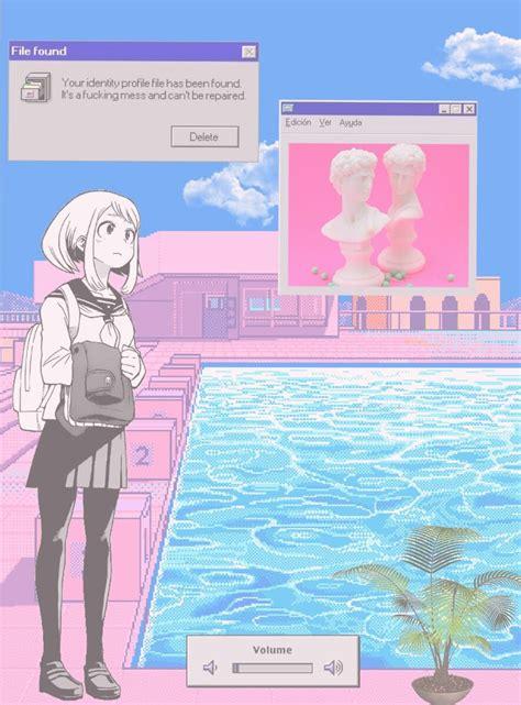Aesthetic Illustration Aesthetic Lock Screen Anime Wallpaper Iphone by Aesthetic Vaporwave Anime Image Vaporwave