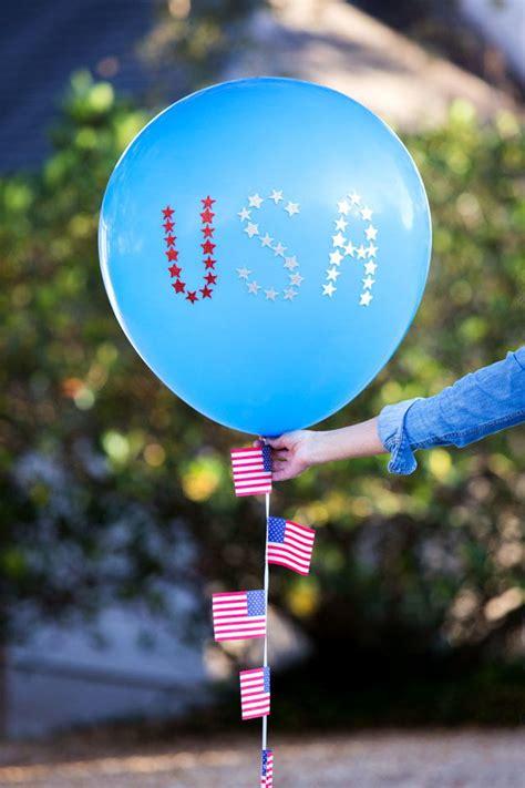 patriotic   july balloons allfreeholidaycraftscom