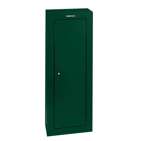 stack on security cabinet 8 gun stack on green steel 8 gun security cabinet