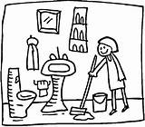 Clipart Toilet Clean Clip Cleaning Cliparts Bathroom Sink Library sketch template