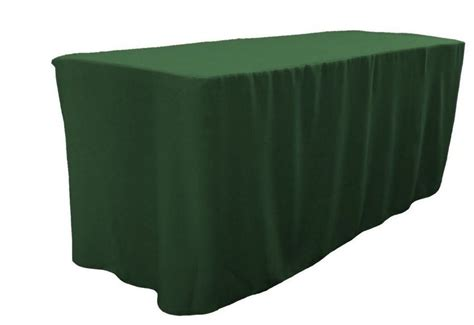 trade show table covers amazon 4 39 ft fitted polyester table cover trade show booth dj