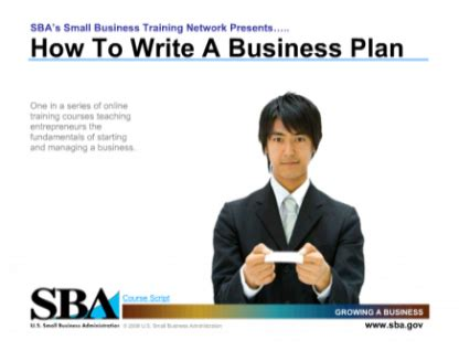 write  business plan   small business