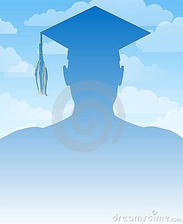 Graduate Background Graduation Silhouette Background Stock Images Image 5290124