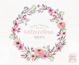 watercolor wreath painted floral wreath clipart wedding invitation clip and pink