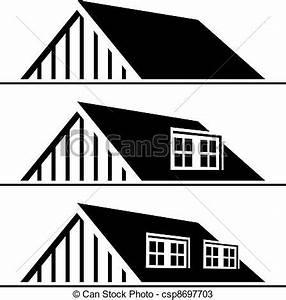 vecteurs de vecteur noir maison toit silhouette With toit de maison dessin