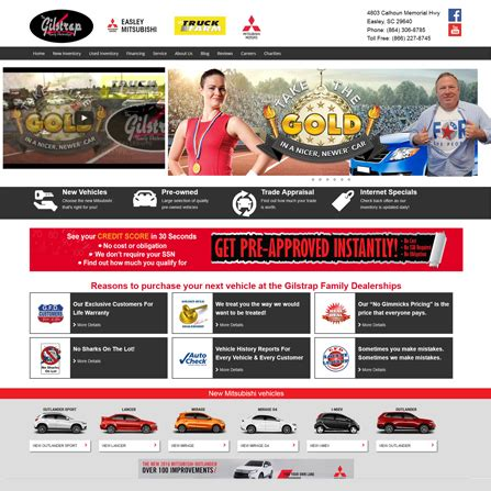 Mitsubishi Of Easley by Car Dealer Website Exles View Our Website Design