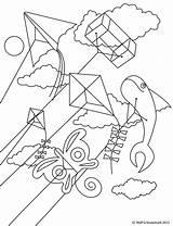 Kite Coloring Kites Printable Frida Template Kahlo Results sketch template