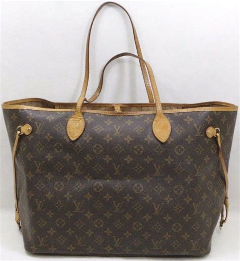 louis vuitton brown monogram canvas neverfull gm tote bag
