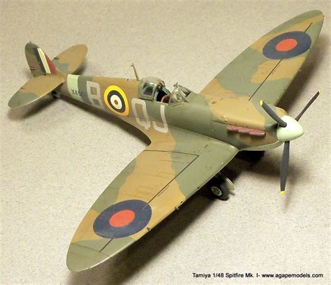 Build Report: Tamiya's 1/48 Spitfire Mk. I   AgapeModels.com
