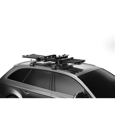 porte skis sur barres de toit thule snowpack 7324 pour 4 paires de skis ou 2 snowboards norauto fr