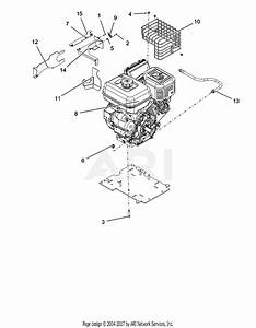 Gravely 985910  000101 -   Pro-qxt Tractor Parts Diagram For Engine