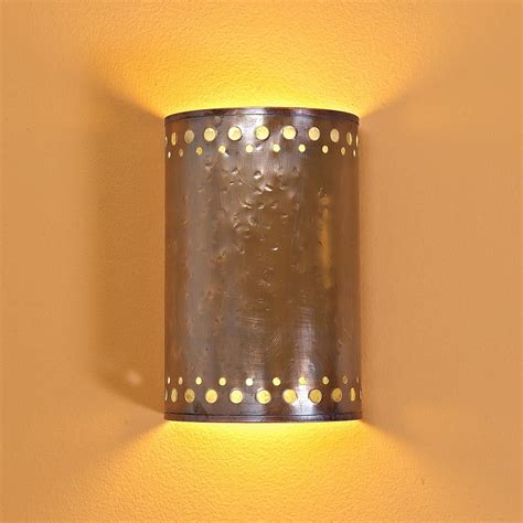 hammered copper indoor wall sconce copper a real show