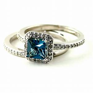 halo ring cushion cut london blue topaz halo ring With blue topaz wedding rings