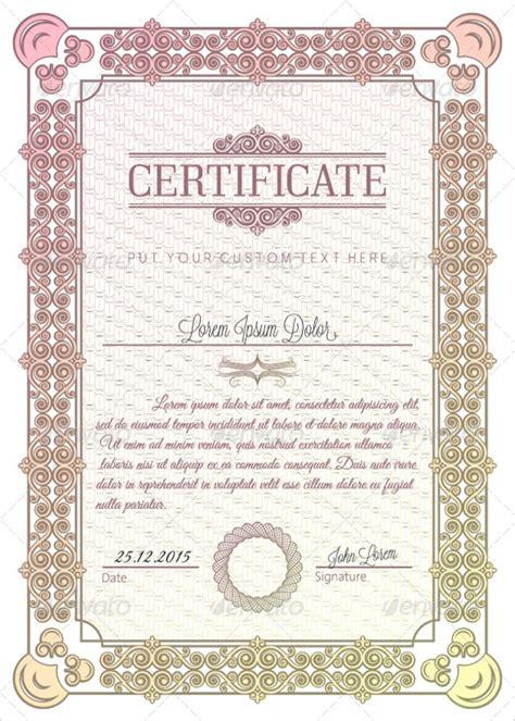 graduation certificates  illustrator indesign