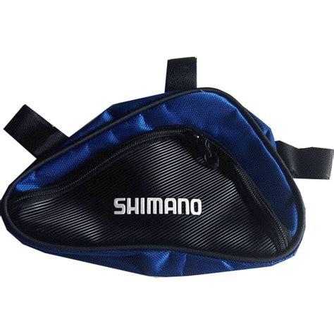 jual beli trex9 tas frame segitiga sepeda shimano biru