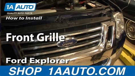 replace front grille   ford explorer  sport