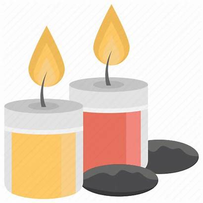 Candle Icon Candles Stand Decorative Spa Burning