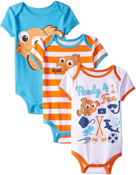Amazon.com: Disney Baby-Boys Finding Nemo Bodysuits, White ...