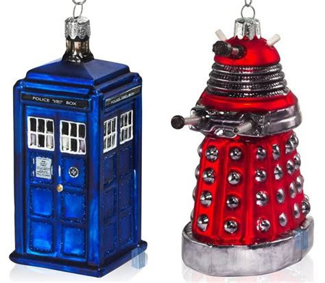 doctor who christmas tree ornaments i seen the whole of the doctor who tree ornaments