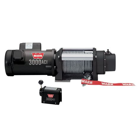 warn 3000 lbs 120 volt ac utility winch 93000 the home depot