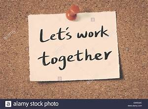 Let S Work It Out : let 39 s work together stock photo royalty free image 118751176 alamy ~ Medecine-chirurgie-esthetiques.com Avis de Voitures