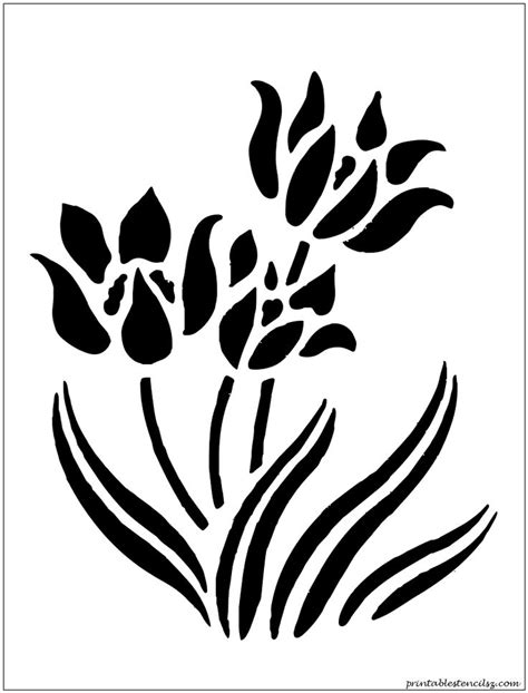 free printable flower stencils for walls 8 best images of printable stencils flowers printable
