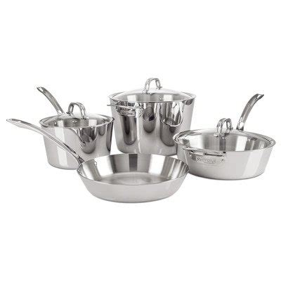 viking culinary contemporary  ply stainless steel  piece