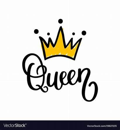 Queen Crown Vector Calligraphy Royalty Vectors