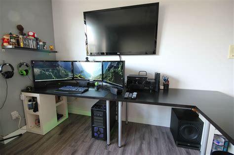 bureau gamer ikea cool computer setups and gaming setups