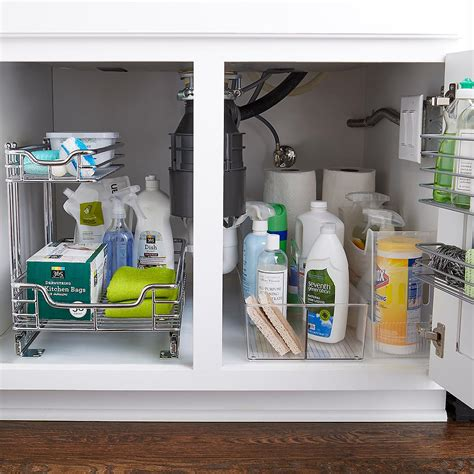 chrome 2 tier sliding organizer the container store