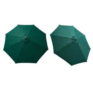 replacement cover canopy 9 ft 8 ribs umbrella green top patio market outdoor ebay
