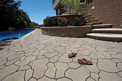 pool deck by unilock with trevia paver and brussels
