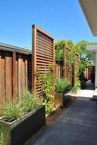 bepflanzung sichtschutz zaun begrunte wand terrasse ideen garten zaun hinterhof y garten With terrasse sichtschutz wand