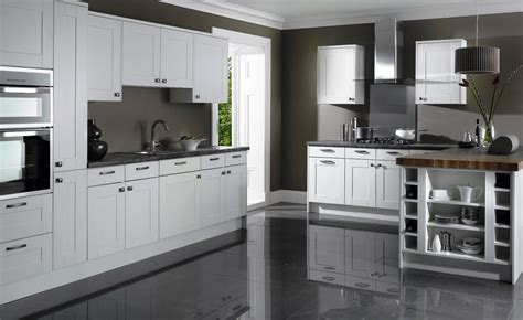 Kitchen flooring with white cabinets, white kitchen with
