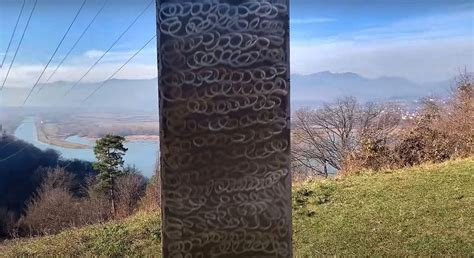 monolith mysteriously appears  romaniaone day