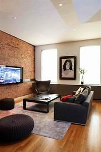 Mur Brique Salon : d co salon mur brique ~ Zukunftsfamilie.com Idées de Décoration