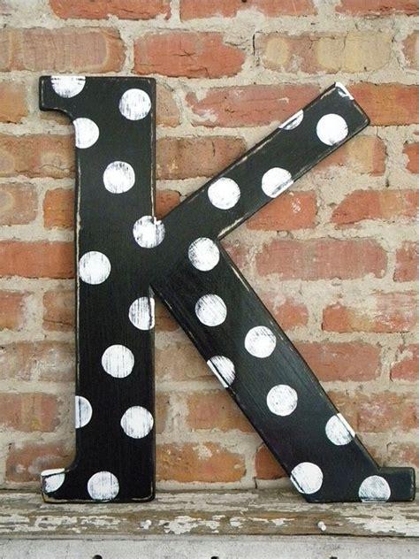 polka dot  letter  wooden letters lettering