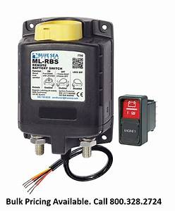 Blue Sea Systems 7700 Remote Battery Switch With Manual