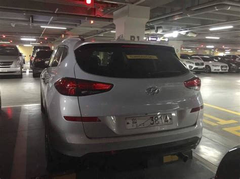 hyundai tucson facelift spotted   parking lot