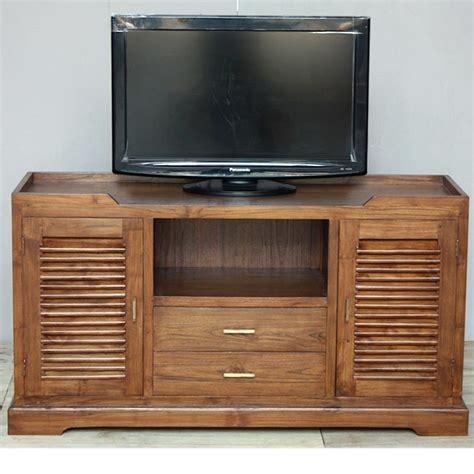meuble tv en teck krepiak colonial pas cher de chez origin