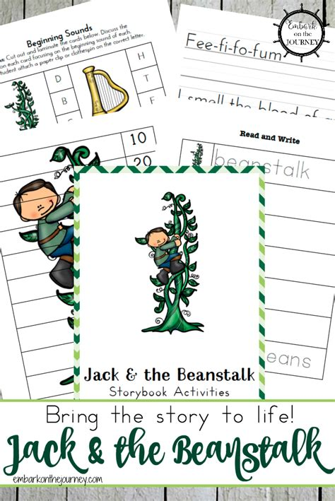 and the beanstalk free printables and activities