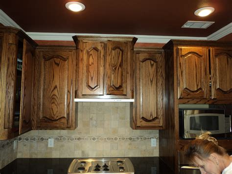 how to stain oak cabinets staining oak cabinets dark brown