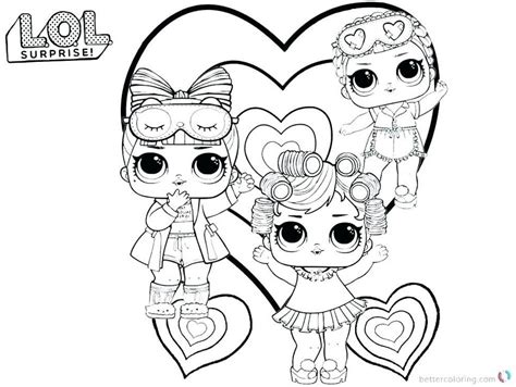 coloring  drawing printable coloring pages lol dolls