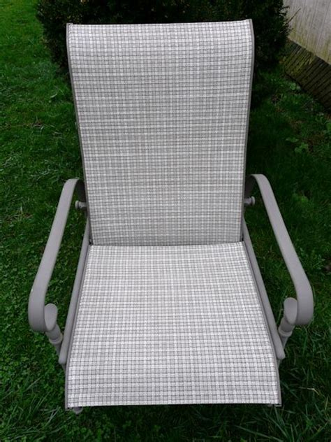 replace patio sling chair fabric patio sling fabric replacement ft 110 fresco textilene 174 wicker