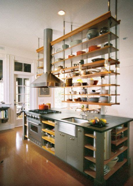 kitchen island stove 10 open kitchen shelves inspirations for a nomadic look