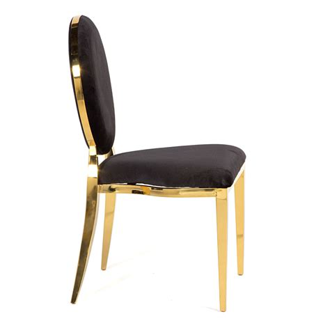 chair gold black on rent for special events