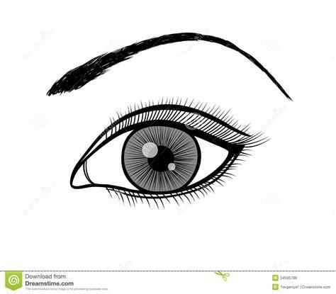 black and white south six monokrom svartvit översikt av ett kvinnligt öga vektor